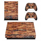 Rusted Brick Wall xbox one X skin decal for console and 2 controllers
