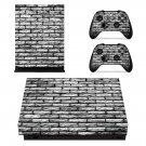 Grey Brick Wall xbox one X skin