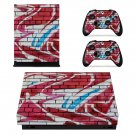 Graffiti xbox one X skin decal for console and 2 controllers