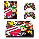 Emoji stikers xbox one X skin decal for console and 2 controllers