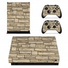 Stone Wall xbox one X skin decal for console and 2 controllers