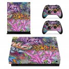 Funky Graffiti xbox one X skin decal for console and 2 controllers