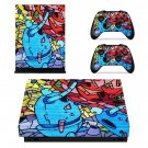 Colorful anime xbox one X skin decal for console and 2 controllers
