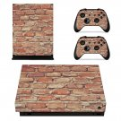 Brick wall xbox one X skin decal for console and 2 controllers