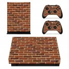 Brick wall print xbox one X skin decal for console and 2 controllers