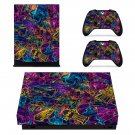Acid trip xbox one X skin decal for console and 2 controllers