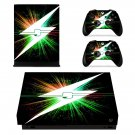 Lightning Bolt xbox one X skin decal for console and 2 controllers