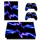 Lightning xbox one X skin decal for console and 2 controllers