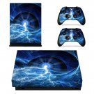 Lightning Galaxy xbox one X skin decal for console and 2 controllers