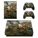 Civil war painting xbox one X skin decal for console and 2 controllers
