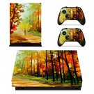Painting of nature  xbox one X skin decal for console and 2 controllers