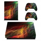 Abstract lightning art xbox one X skin decal for console and 2 controllers