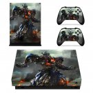 Transformers The Last Knight xbox one X skin decal for console and 2 controllers