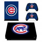 Chicago Cubs xbox one X skin decal for console and 2 controllers