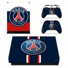 Paris Saint Germain xbox one X skin decal for console and 2 controllers