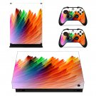 Colorful Custom Paint xbox one X skin decal for console and 2 controllers