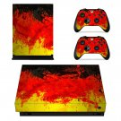 Custom German Flag xbox one X skin decal for console and 2 controllers
