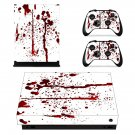 Splatter Blood xbox one X skin decal for console and 2 controllers