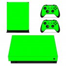 Light green xbox one X skin decal for console and 2 controllers