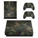 Camouflage Pattern xbox one X skin decal for console and 2 controllers