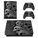Skulls xbox one X skin decal for console and 2 controllers
