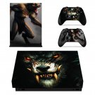Werewolf xbox one X skin decal for console and 2 controllers