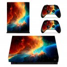 Colourful Open Galaxy xbox one X skin decal for console and 2 controllers