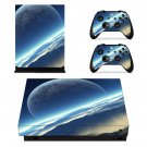 Open Galaxy xbox one X skin decal for console and 2 controllers