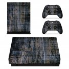 Rusted Wood Texture xbox one X skin decal for console and 2 controllers