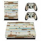 Wood Block xbox one X skin decal for console and 2 controllers