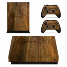 Wooden Texture xbox one X skin decal for console and 2 controllers