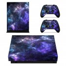 Galaxy xbox one X skin decal for console and 2 controllers