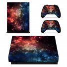 Galaxy with Stars xbox one X skin decal for console and 2 controllers