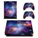 Colorful Galaxy xbox one X skin decal for console and 2 controllers