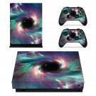 Galaxy Blackhole xbox one X skin decal for console and 2 controllers