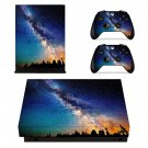Open sky with nature view xbox one X skin decal for console and 2 controllers