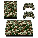 Custom Camouflage xbox one X skin decal for console and 2 controllers