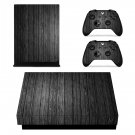 Grey Wooden Texture xbox one X skin decal for console and 2 controllers