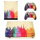 Color splash xbox one X skin decal for console and 2 controllers