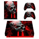 Bloody Skull xbox one X skin decal for console and 2 controllers