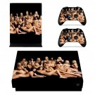 Sexy Nude Girls xbox one X skin decal for console and 2 controllers