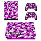 Morning Wood Camo xbox one X skin decal for console and 2 controllers