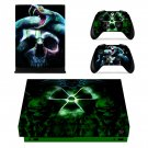 Biohazard sign xbox one X skin decal for console and 2 controllers