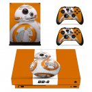 BB-8 xbox one X skin decal for console and 2 controllers
