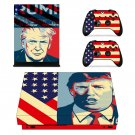 Trump with American Flag xbox one X skin decal for console and 2 controllers