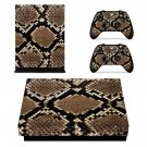 Snake skin xbox one X skin decal for console and 2 controllers