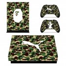 Custom Camouflage with puma logo xbox one X skin decal for console and 2 controllers