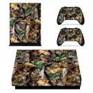 Dry Tree Leaves xbox one X skin decal for console and 2 controllers