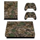 Camouflage xbox one X skin decal for console and 2 controllers