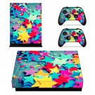 Colorful Stars xbox one X skin decal for console and 2 controllers